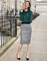 british tweed pencil skirt t0016 below knee skirts at boden