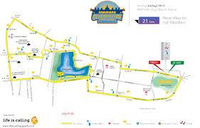 Marathon Route Map by Life Is Calling Sports Celebration Marathon Route Map Mysore