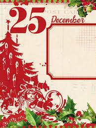 day 25 december free 3x4 printable digital scrapbooking