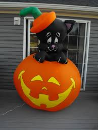 Airblown Halloween Inflatables by Gemmy Airblown Halloween Inflatable Lighted 7 Ft Black Cat On