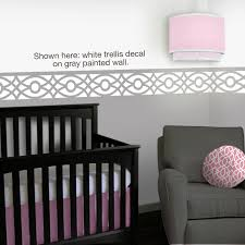 trellis nursery wall decals 12 foot border pink gray