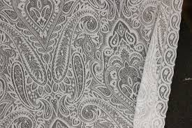 Paisley Home Decor Fabric by Lace 19 Century Lace Ivory Or White Drapery Fabric Paisley Lace