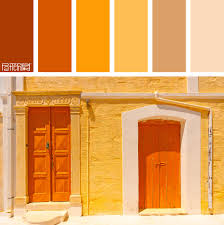 color palette burnt orange tangerine and sand if you like our