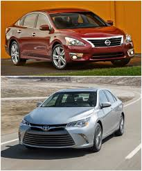 nissan altima 2015 vs 2017 2015 model year nissan altima vs toyota camry compared