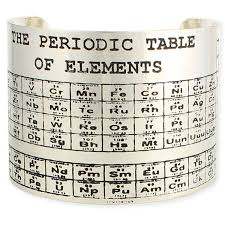 amazon com periodic table of elements cuff bracelet one size