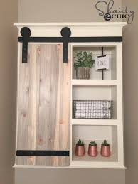 Storage Bathroom Diy Sliding Barn Door Bathroom Cabinet Shanty 2 Chic