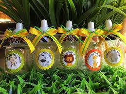 safari baby shower favors 12 safari bottle favors for a boy baby shower favors safari