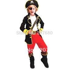 kids pirate captain hook boys fancy dress costume costumes