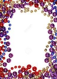 mardi gras frame vertical image of border outline frame of mardi gras bead necklaces