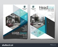 technical brochure template blue technology triangle and hexagon annual report brochure flyer
