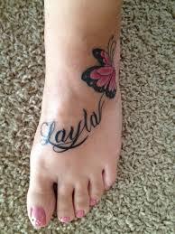butterfly name foot tattoo tattoos pinterest