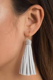 clear earrings clear skies blue tassel earrings 7 tobi us