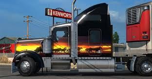 kenworth 2016 kenworth w900 sunset skin mod american truck simulator mod ats mod