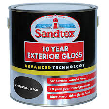 Black Exterior Gloss Paint - sandtex 10 year exterior gloss paint charcoal black 2 5l