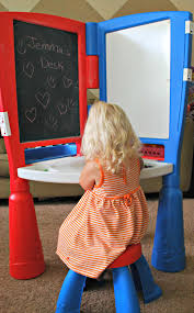 creative time with the little tikes 2 in 1 art desk and easel