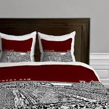 buy best and beautiful bedding sets on sale black and maroon