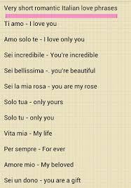 italian love phrases 1 word of warning italian men use these often