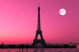 paris pink sunset wallpaper mural pink sunset wall murals and paris pink sunset wall mural custom made to suit your wall size by the uk s