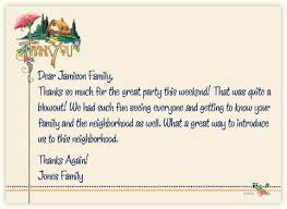 simple thank you note how write dear jamison family thanks so much