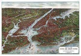 Map Of New York Harbor by Bibliodyssey Bird U0027s Eye New York