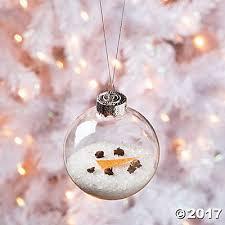 salt melted diy snowman ornament idea