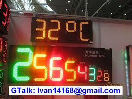 outdoor led clock temperature display time date temperature