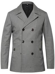 ted baker musgrave pea coat in gray for men lyst