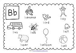 preschool letter b activities and worksheets little dots