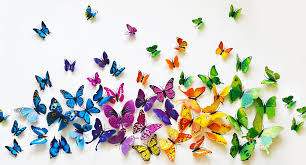 com great way to decorate set of 12 3d pvc butterflies for
