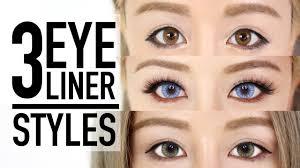 liquid eyeliner tutorial asian 3 eyeliner styles makeup tutorial tips wengie youtube
