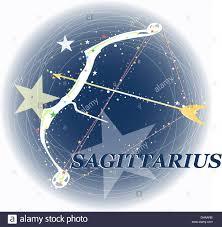 Astrology Sign Arrow Star Bow Astrology Sign Sagittarius Space Stock Photo