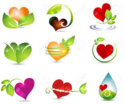 Beautiful Color Combinations Heart And Nature Symbols Bright And Clean Designs Beautiful