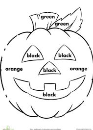 color the jack o u0027 lantern worksheets jack o u0027 lantern and jack o
