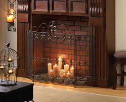 living room decorative stainless glass single panel fireplace