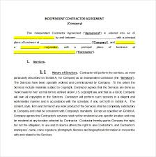 contractor agreement template u2013 13 free word pdf document