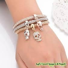 skull bangle bracelet images Kats closet apparel beauty antique gold snake chain skull jpg