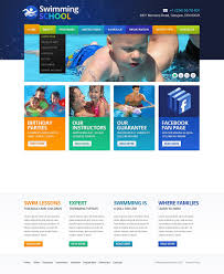 swimming responsive website template 43794