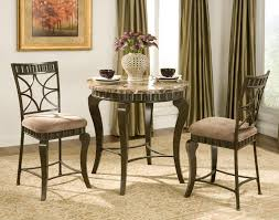 Round Table Granite Bay Charming Black 3 Piece Dining Set Mahogany Wood Dining Table
