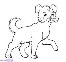 a drawing of a dog how to draw dogs step step pets animals free