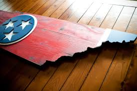 state wood tennessee state shaped wood flag patriot wood