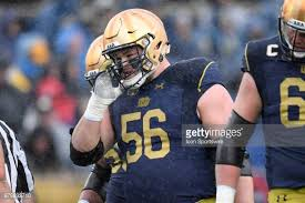 Quenton Nelson Bench Press Notre Dame Fighting Irish Football Equipment Stock Photos And