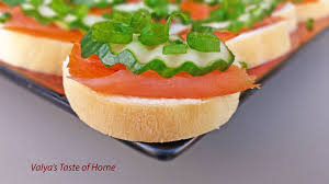 m fr canapes smoked salmon canapés valya s taste of home