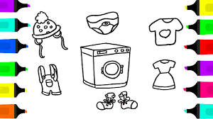 coloring book baby clothes u0026 toy washing machine the teaching of