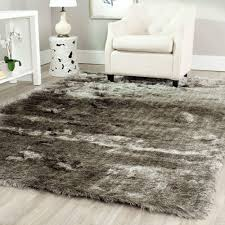 6 X9 Area Rugs by Safavieh Santa Monica Shag Silver 3 Ft X 5 Ft Area Rug Sgn725