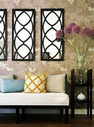 mirror sticker wall decor ideas for spacious room design