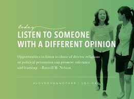 listen to different opinions