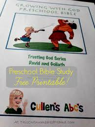 free printable cullen u0027s abc u0027s david and goliath bible study