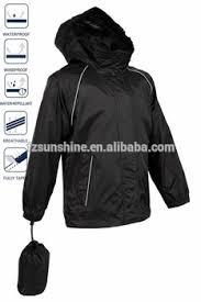 waterproof bike jacket polyester hoodie waterproof bike rain jacket with reflective strip