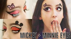 halloween makeup eyes mickey and minnie mouse eye makeup tutorial courtney little