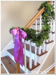 Christmas Railing Decorations Christmas Decorating House Tour In My Own Style